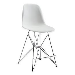 Zuo® Zip Counter Stool in White