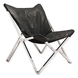 Zuo Leather Upholstered Bar Stool in Black