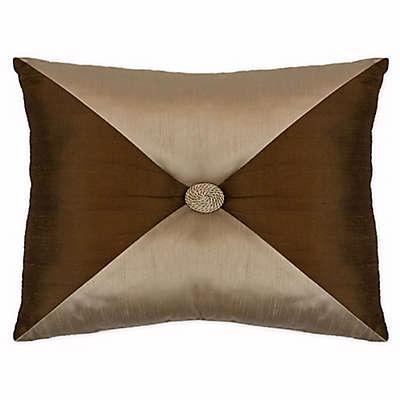 Austin Horn Classics San Tropez Button Oblong Throw Pillow in Chocolate
