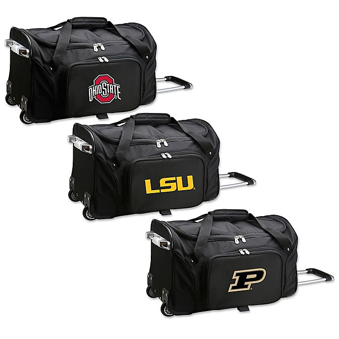 Alternate image 1 for Collegiate 22-Inch Wheeled Carry-On Duffle Bag