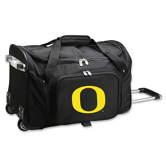 Alternate image 1 for University of Oregon 22-Inch Wheeled Carry-On Duffle Bag