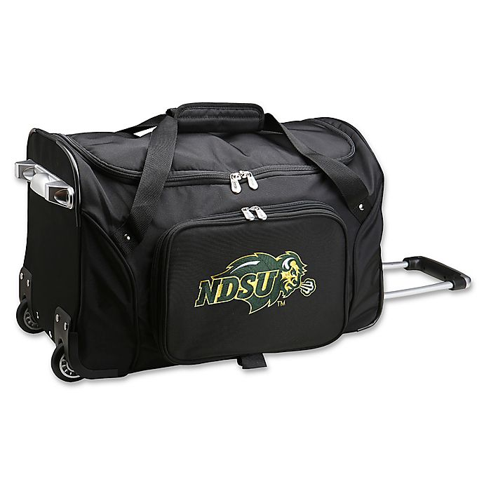 Alternate image 1 for North Dakota State University 22-Inch Wheeled Carry-On Duffle Bag