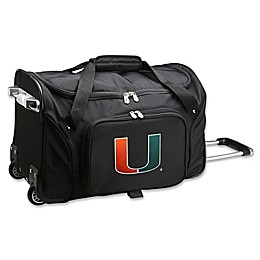 University of Miami 22-Inch Wheeled Carry-On Duffle Bag