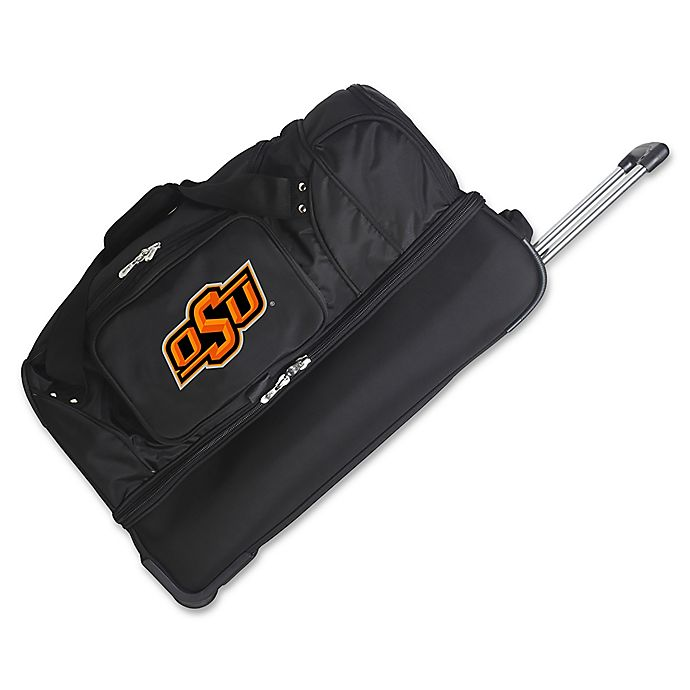 Alternate image 1 for Oklahoma State University 27-Inch Drop Bottom Rolling Duffle Bag
