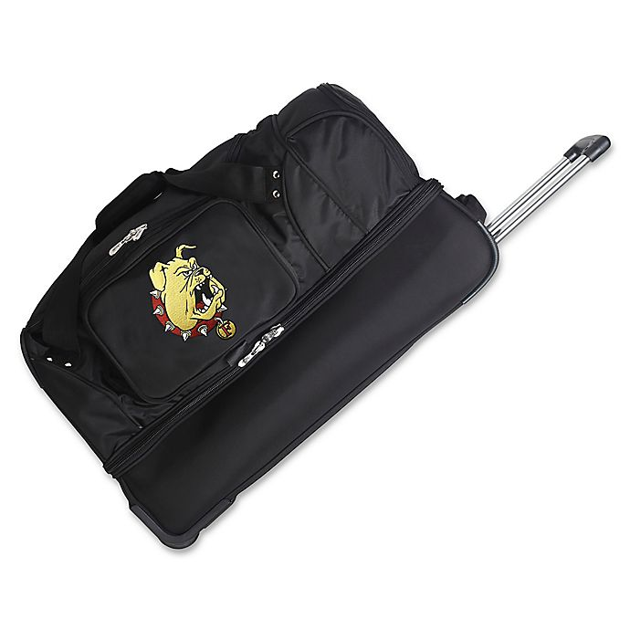 Alternate image 1 for Ferris State University 27-Inch Drop Bottom Rolling Duffle Bag