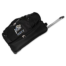 United States Naval Academy 27-Inch Drop Bottom Rolling Duffle Bag