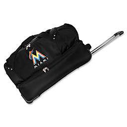 MLB Miami Marlins 27-Inch Drop Bottom Wheeled Duffel Bag