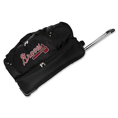 MLB Atlanta Braves 27-Inch Drop Bottom Wheeled Duffel Bag
