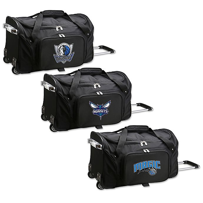 Alternate image 1 for NBA 22-Inch Wheeled Carry-On Duffle Bag