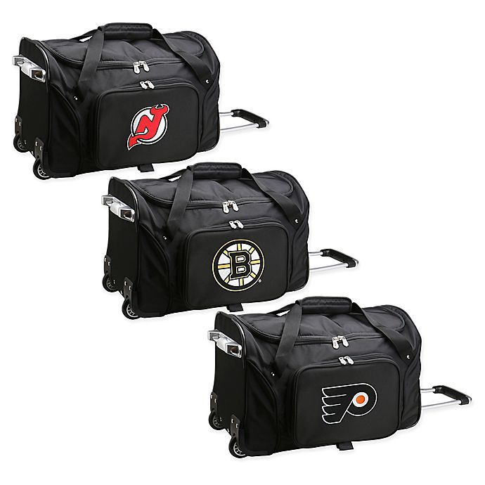 Alternate image 1 for NHL 22-Inch Wheeled Carry-On Duffle Bag