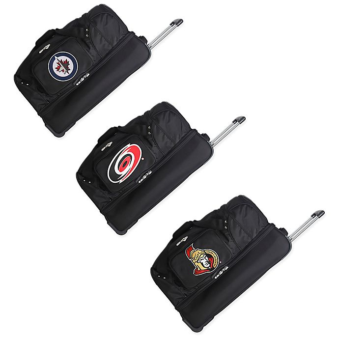 Alternate image 1 for NHL 27-Inch Wheeled Drop Bottom Duffle Bag