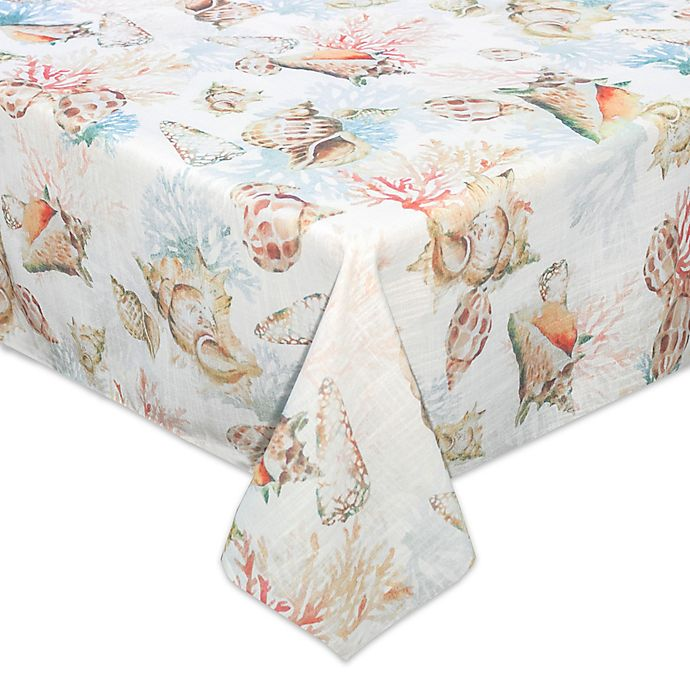 Alternate image 1 for Bardwil Linens Shells Ashore 52-Inch Square Tablecloth