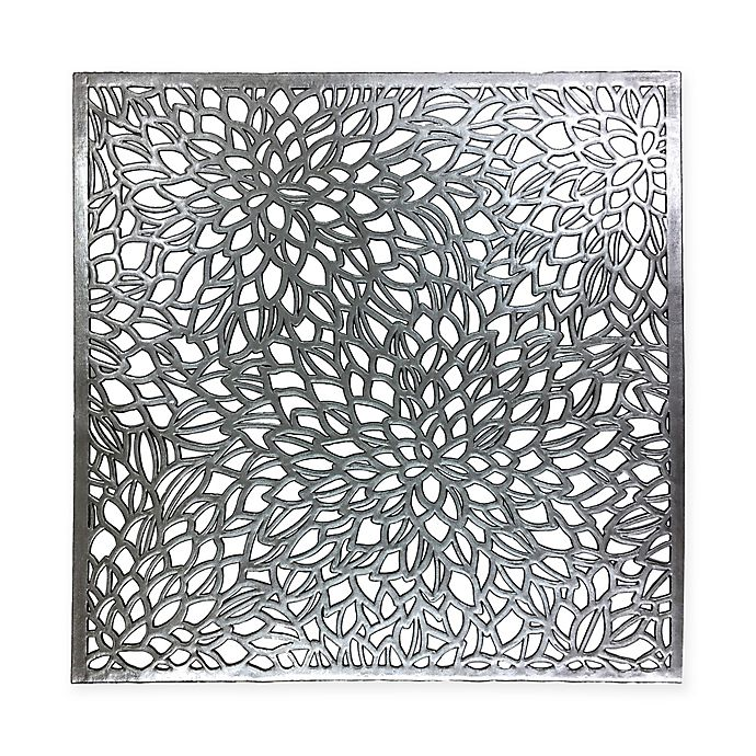 Modern Flower Placemat In Silver Black Bed Bath Amp Beyond