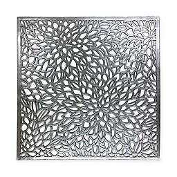 Modern Flower Placemat in Silver/Black