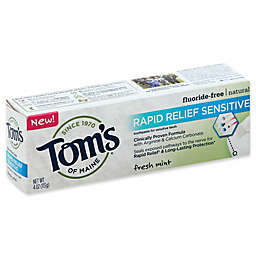 Tom's® Rapid Relief Sensitive 4 oz. Fluoride-Free Toothpaste for Sensitive Teeth in Fresh Mint