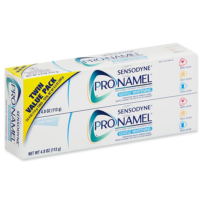 Alternate image 1 for Sensodyne® ProNamel® 2-Pack 4 oz. Gentle Whitening Fluoride Toothpaste for Sensitive Teeth