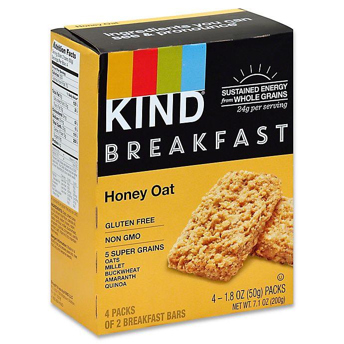 Alternate image 1 for Kind 4-Pack Breakfast Bars in Honey Oat