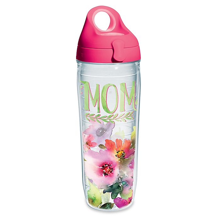 Alternate image 1 for Tervis® Mom Watercolor Floral 24 oz. Wrap Water Bottle