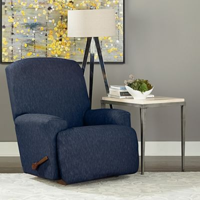 Sure Fit 174 Designer Denim 1 Piece Recliner Slipcover Bed