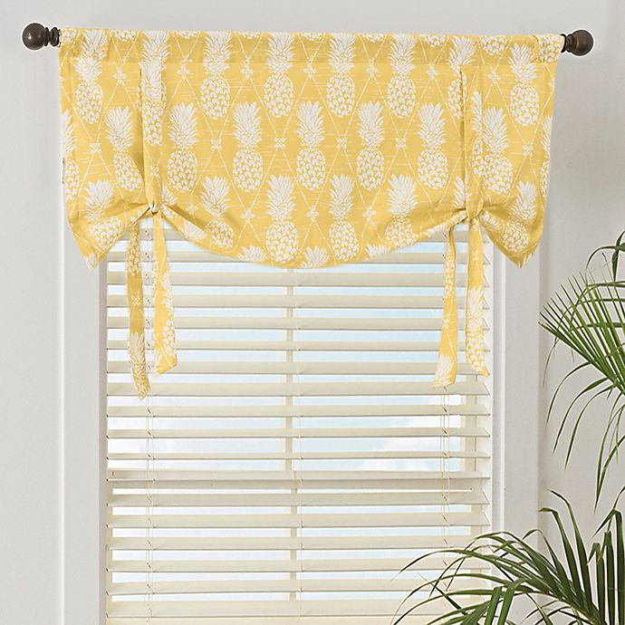 Alternate image 1 for Pineapple Window Valance in Gold