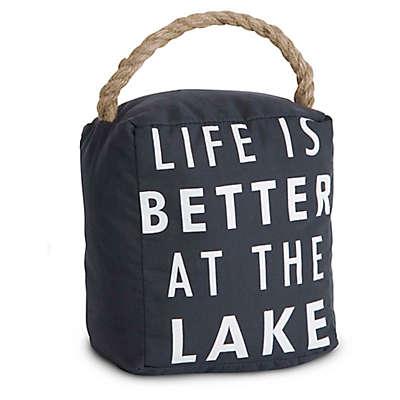 """Open Door Décor """"Life is Better at the Lake"""" Door Stopper"""