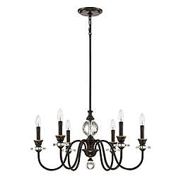Quoizel Ceremony 6-Light Chandelier in Palladian Bronze