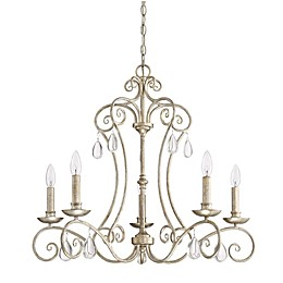 Quoizel Chantelle Chandelier in Vintage Gold