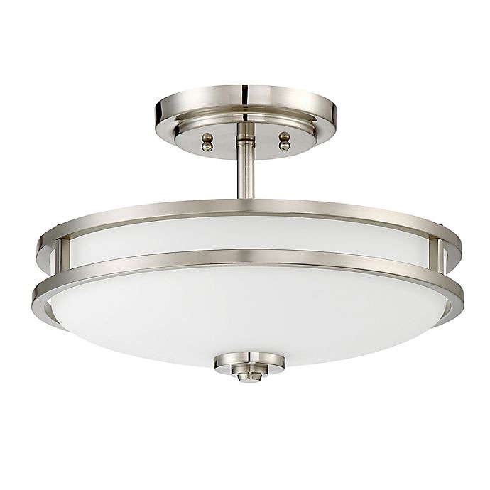 Alternate image 1 for Quoizel Cadet 3-Light Medium Semi-Flush Mount Ceiling Fixture in Silver