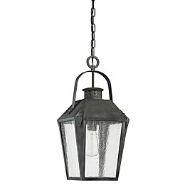 Quoizel Carriage Outdoor Hanging Lantern in Mottled Black