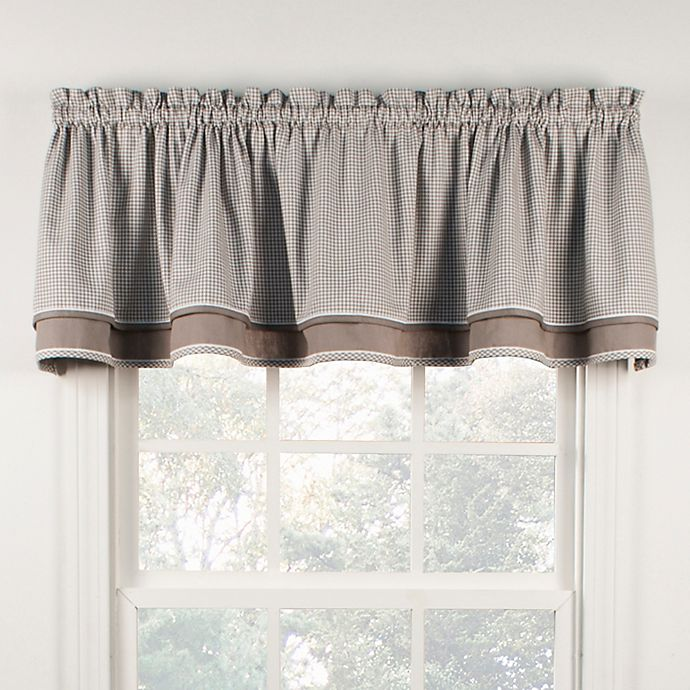 Classic Check Window Valance In Grey