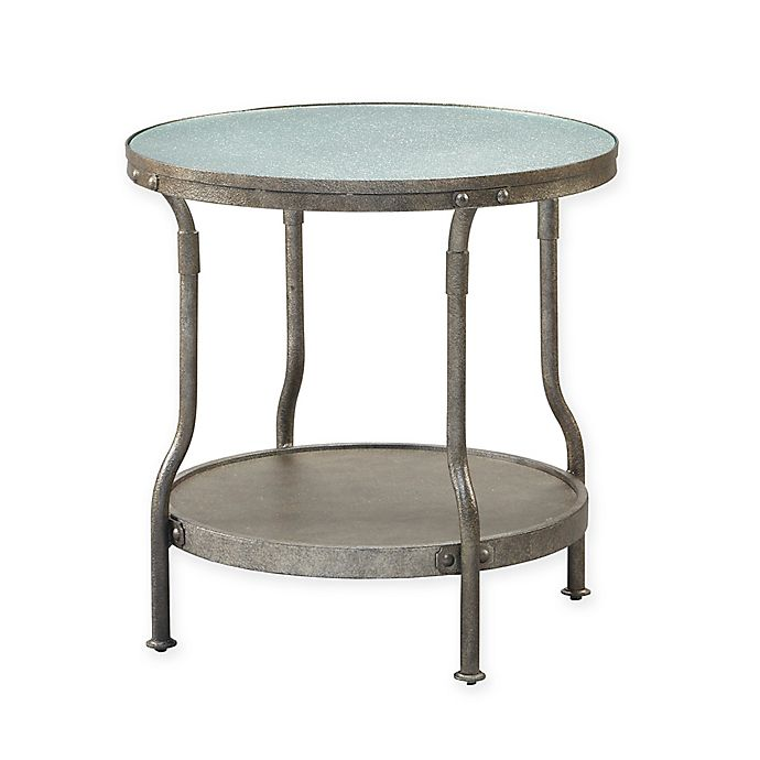 Alternate image 1 for INK+IVY Cambridge End Table in Antique Silver