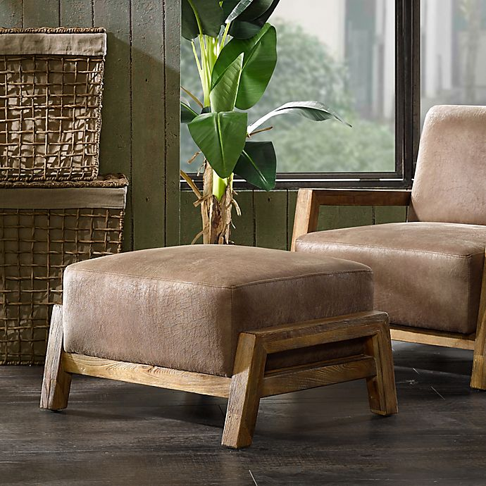 Alternate image 1 for INK+IVY Easton Ottoman in Brown