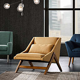 INK+IVY® Boomerang Lounge Chair in Mustard/Pecan