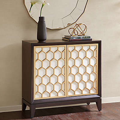 Madison Park Honeycomb Accent Cabinet in White