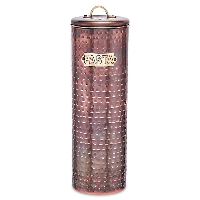 Alternate image 1 for Old Dutch International Hammered Decor Pasta Canister in Antique Copper