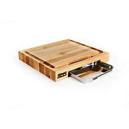 John Boos 15-Inch x 14-Inch Reversible Cutting Board with Pan