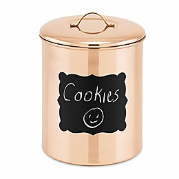 Old Dutch International 4-Quart Chalkboard Cookie Jar in Copper