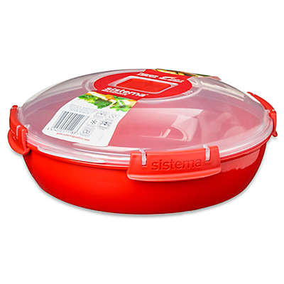 Sistema® 43.8 oz. Microwavable Plate in Red