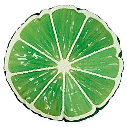 Lime Round Outdoor Throw Pillow in Lime Green