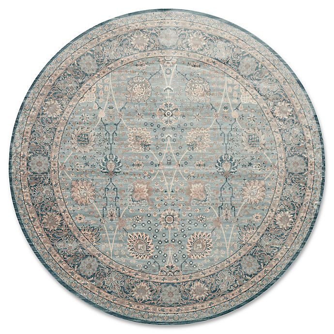 Alternate image 1 for Magnolia Home by Joanna Gaines Ella Rose 9-Foot 3-Inch Round Area Rug in Light Blue/Dark Blue