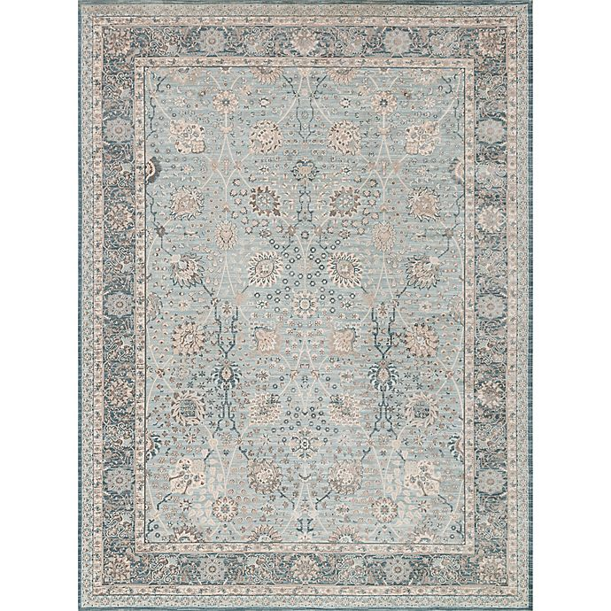 Alternate image 1 for Magnolia Home by Joanna Gaines Ella Rose 13-Foot x 18-Foot Area Rug in Light Blue/Dark Blue