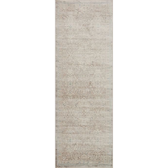 Alternate image 1 for Magnolia Home by Joanna Gaines Ella Rose 2-Foot 8-Inch x 10-Foot 6-Inch Runner in Pewter
