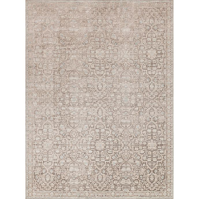 Alternate image 1 for Magnolia Home by Joanna Gaines Ella Rose 3-Foot 7-Inch x 5-Foot 6-Inch Area Rug in Pewter
