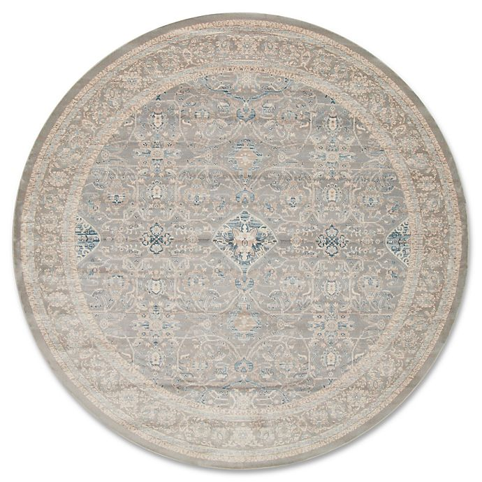 Alternate image 1 for Magnolia Home by Joanna Gaines Ella Rose 9-Foot 3-Inch Round Area Rug in Steel