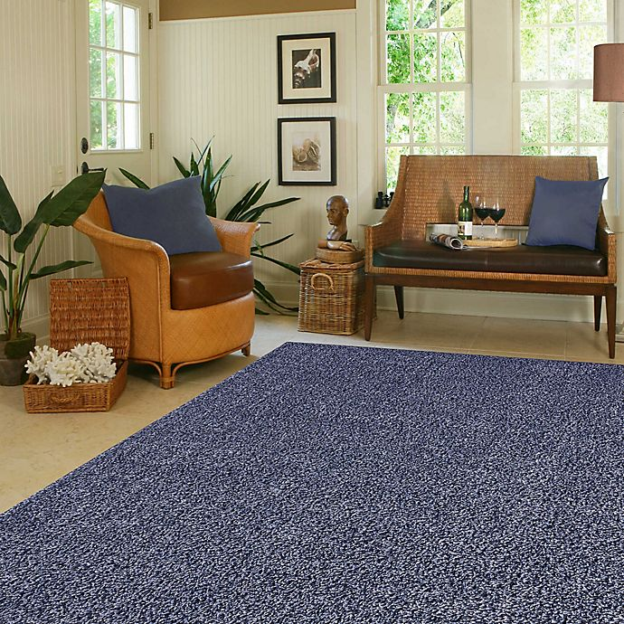 Alternate image 1 for Mohawk Home Langtree 5-Foot x 7-Foot Shag Area Rug in Blue