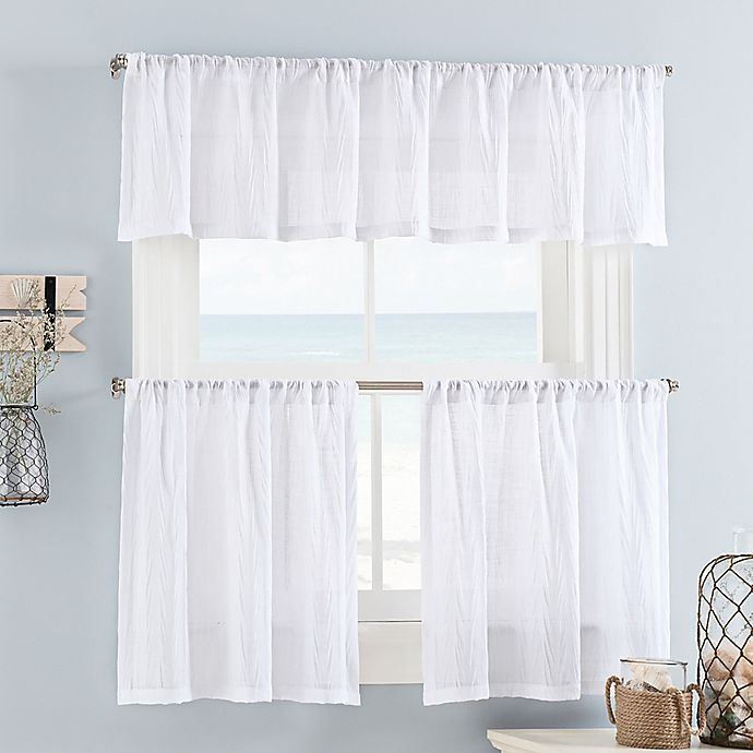 Alternate image 1 for Weston Mini 24-Inch Window Curtain Tiers in White