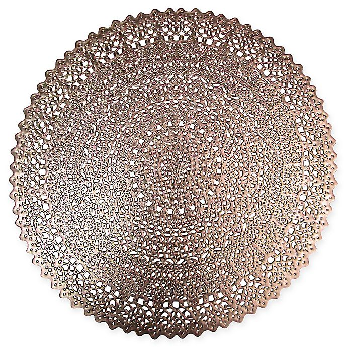 Adele Round Placemat In Rose Gold Bed Bath Amp Beyond