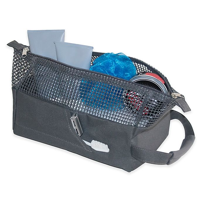 Alternate image 1 for Sport Mesh Shower Tote in Charcoal