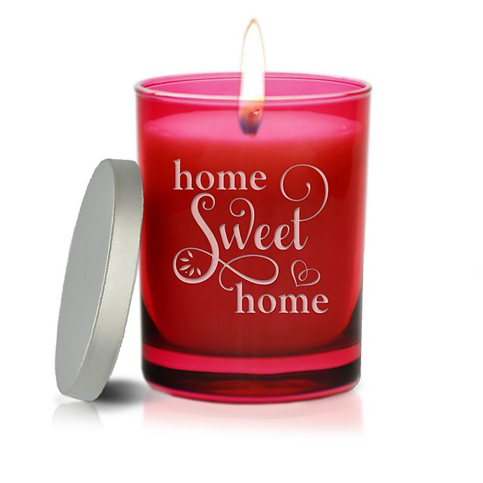 Alternate image 1 for Carved Solutions Gem Collection Unscented Home Sweet Home Soy Wax Candle in Ruby
