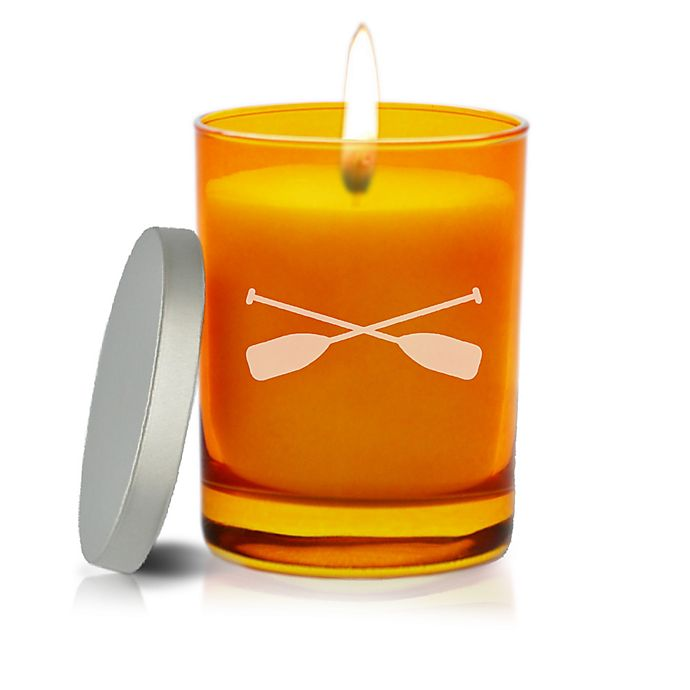 Alternate image 1 for Carved Solutions Gem Collection Unscented Oars Soy Wax Candle in Topaz